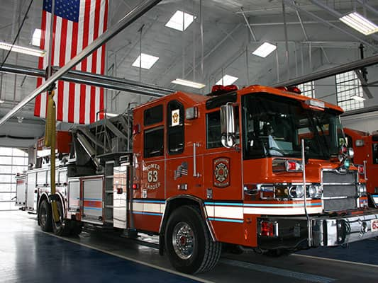 Drive Through System - Fire and EMS Solutions Fire Department - Exhaust extraction